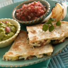 Artichoke, Spinach and Pepper Jack Quesadillas