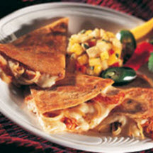 Brie and Chicken Quesadillas