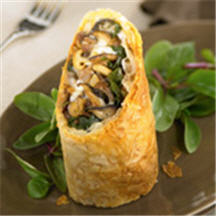 Duck, Wild Mushroom and Fontina Cheese Strudel