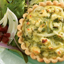 Feta and Vidalia Onion Tart with Shaved Fennel