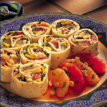Orange Jalapeño Chicken Party Pinwheels