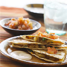 Spicy Potato Quesadillas