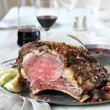 Beef Rib Roast with Red Wine-Cherry Sauce