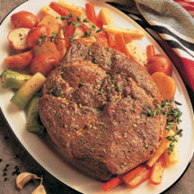 Bottom Round Beef Roast with Vegetables