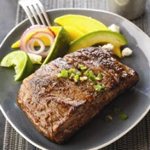 Spicy Grilled Ribeye Cap with Avocado-Mango Salad