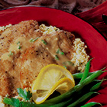 Veal Cutlets with Lemon Mustard Sauce