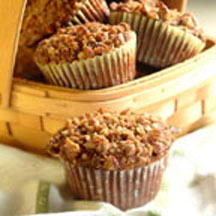 Chocolate Streusel Pecan Muffins