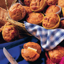 Sweet Potato, Apple and Walnut Muffins