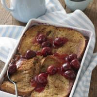 Baked French Toast with Cherry Topping