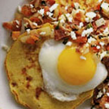 Corn Cakes with Queso Fresco Salsa