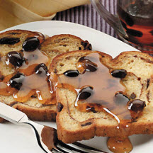 Easy Oven-baked French Toast with Raisin Syrup