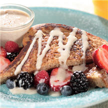 French Toast with Cinnamon Sauce