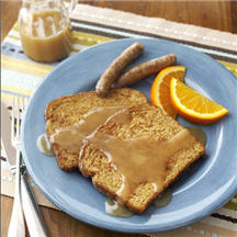 French Toast with Creamy Maple Syrup