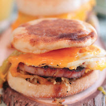 Ham & Cheddar Green Chile Breakfast Sandwich
