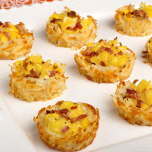 Hashbrown Nests with Eggs
