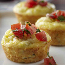 Mini Pepper Jack Quiches