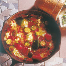 Spicy Vegetable Shakshouka with Cheese