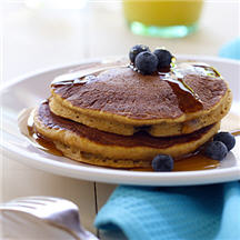 Whole-Wheat Pumpkin Blueberry Pancakes