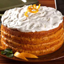 Pumpkin Torte with Orange Cream