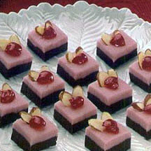 Cheery Cherry Almond-Topped Fudge