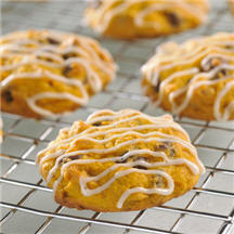 Pumpkin Spiced and Iced Cookies