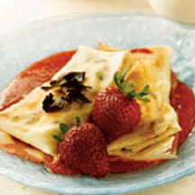 Chocolate Chip and Strawberry Crêpes