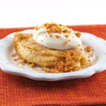 Cinnamon Crêpes with Pumpkin Mousse and Graham Crumble
