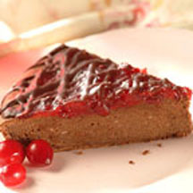 Cranberry Chocolate Brownie Cheesecake