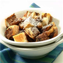 Peanutty Chocolate Bread Pudding