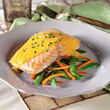 Baked Salmon with Orange-Ginger Sauce