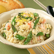 California Asparagus and Rock Shrimp Risotto