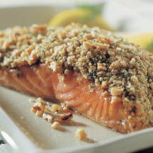 Crunchy Walnut-Crusted Salmon Fillets