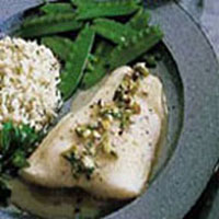 Fish Fillets with Pineapple Pistachio Sauce