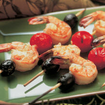 Grilled Shrimp and Olive Skewers