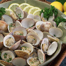 Oven-Roasted Clams with Herb Butter