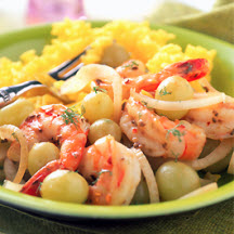 Sautéed Shrimp with Grapes and Fennel