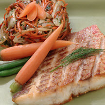 Seared Florida Snapper with Fennel and Carrot Sauté