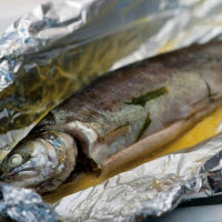 Trout Baked in Foil with Rosemary & Lemon