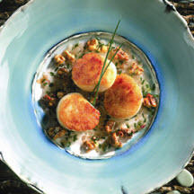 Virginia Sea Scallops with Shallots and Walnuts