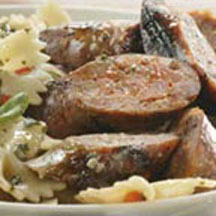 Grilled Sausage and Pesto Pasta