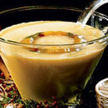 Holiday Peach-Nog Punch