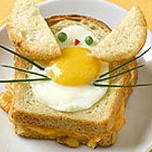 Bunny-In-The-Hole Eggs & Toast