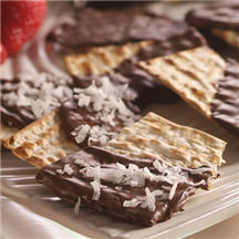 Chocolate-Dipped Matzos