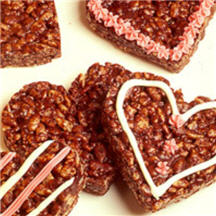 Crispy Chocolate Heart Cookies