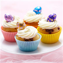 Easter Vanilla Cream Cheese Cupcakes