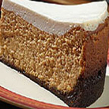 Gingerbread Pumpkin Cheesecake with Cookie Crust
