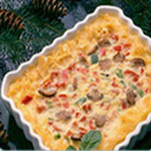Noodle-Crusted Quiche Noel
