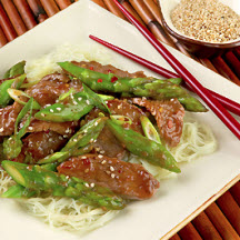 California Asparagus and Lamb Stir Fry