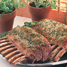 Herb Crusted Racks of Lamb