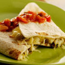 Quesadillas with Potatoes and Green Chiles with Asadero Cheese